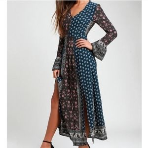 [NWT!] LOVERICHE bell sleeve floral maxi dress